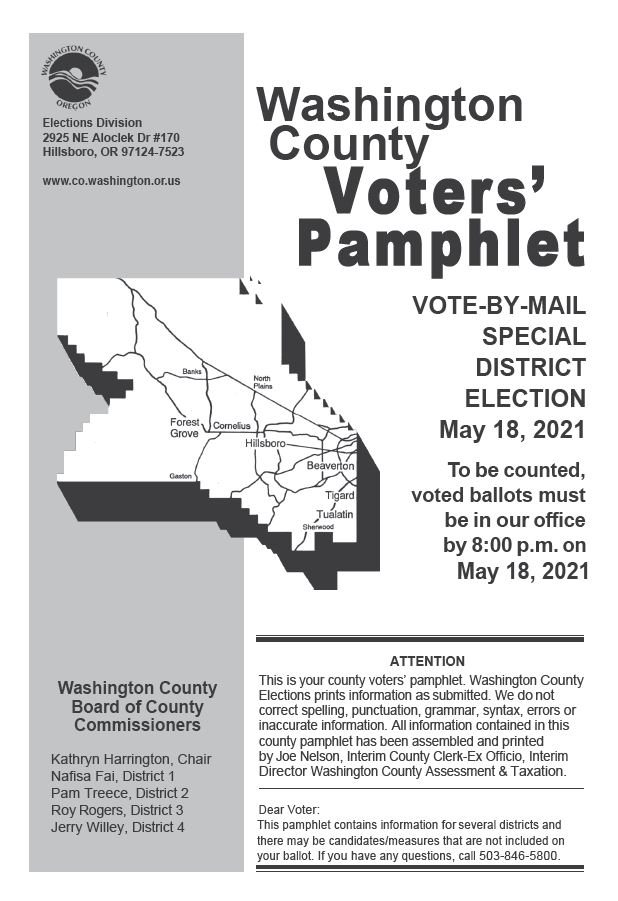 May 18 2021 Voter Pamphlet