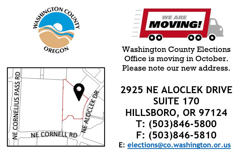 The Elections Office is moving to a new location