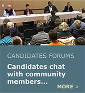 CCI and CPOs provide a setting for community members to meet their candidates.