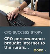 CPO 15 partnered with CPO 10 to hold meetings about the lack of rural internet access.