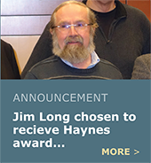 Jim Long receives Harold Haynes Award for years of service.