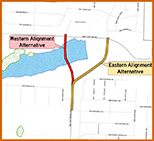 Map of Saltzman Road Project