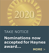Call for nominations for 2020 Harold M. Haynes Citizen Involvement Award