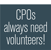 CPOs always need volunteers!