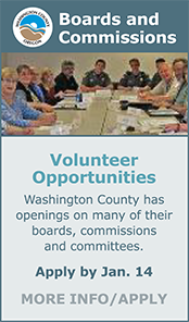 Volunteer opportunities on Washington County Boards and Commissions!