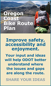 Online open house to help decide on improvements included in the Oregon Coast Bike Plan.