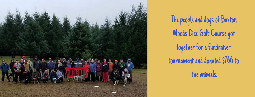 Buxton Woods Disc Golf Held a Tournament to Benefit the Animals