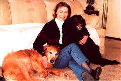 Susan Irwin with dog