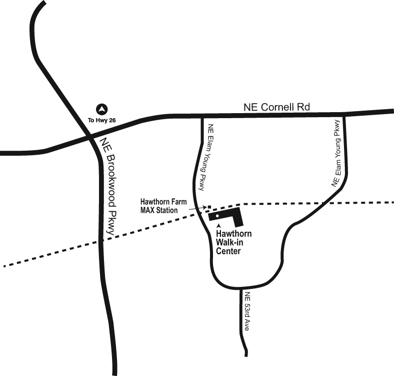 Map of Hawthorn Walk-in Center location