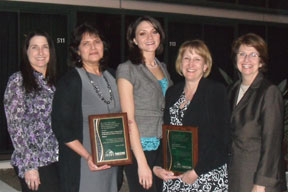 (Pictured l-r): Lynda Neal, Oregon Health Authority; Cynthia Valdivia, Washington County HHS; Kristy Beachamp and Mary Catherine Clites, North Central Public Health District; Lillian Shirley, NACCHO President
