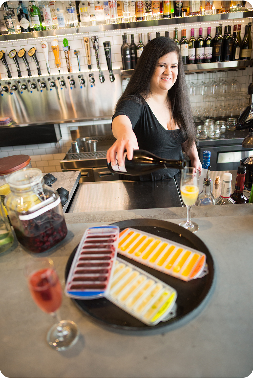Bethany Public House infused liquor and fruit repurposing