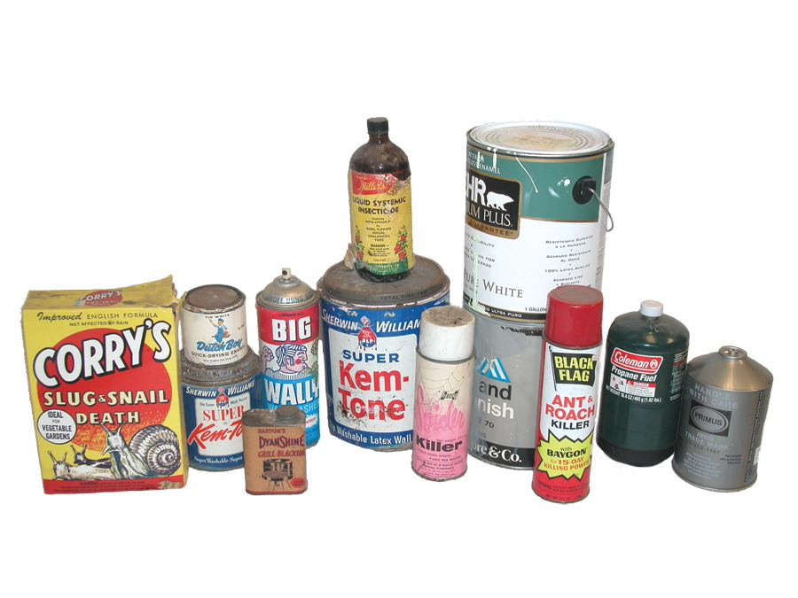 hazardous waste, paint, chemicals, pesticides,