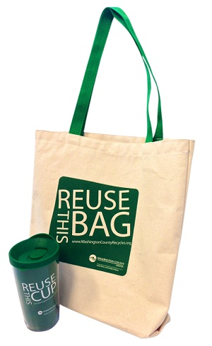 Reuse This Bag and Cup