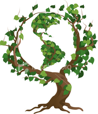 tree roots vector. -green-world-tree-vector-