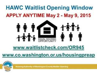 Housing Assistance Waitlist Opening
