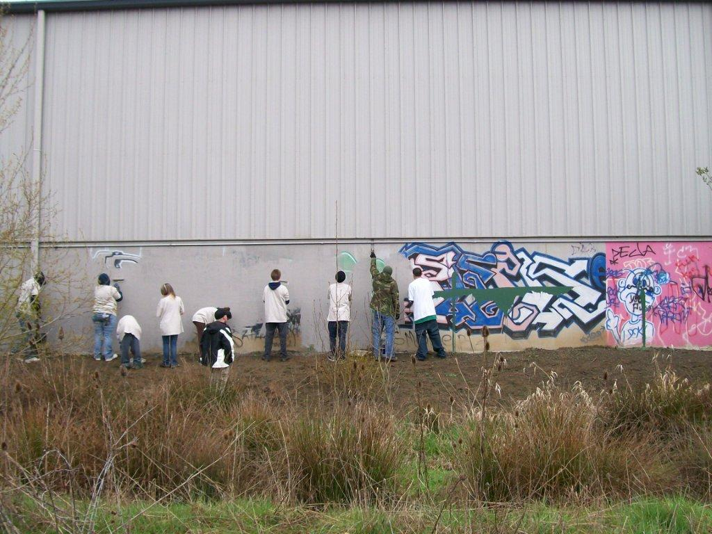 Community Service - graffiti removal
