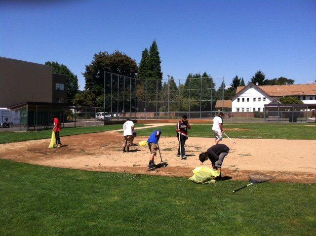 Community Service - clean up of baseball field