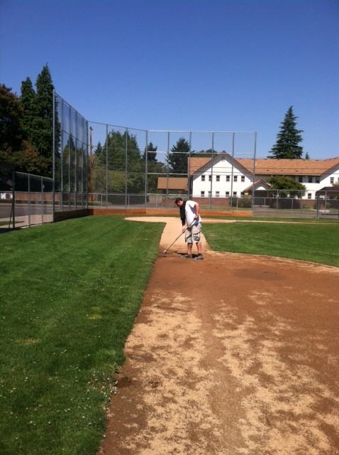 Community Service - baseball field cleanup