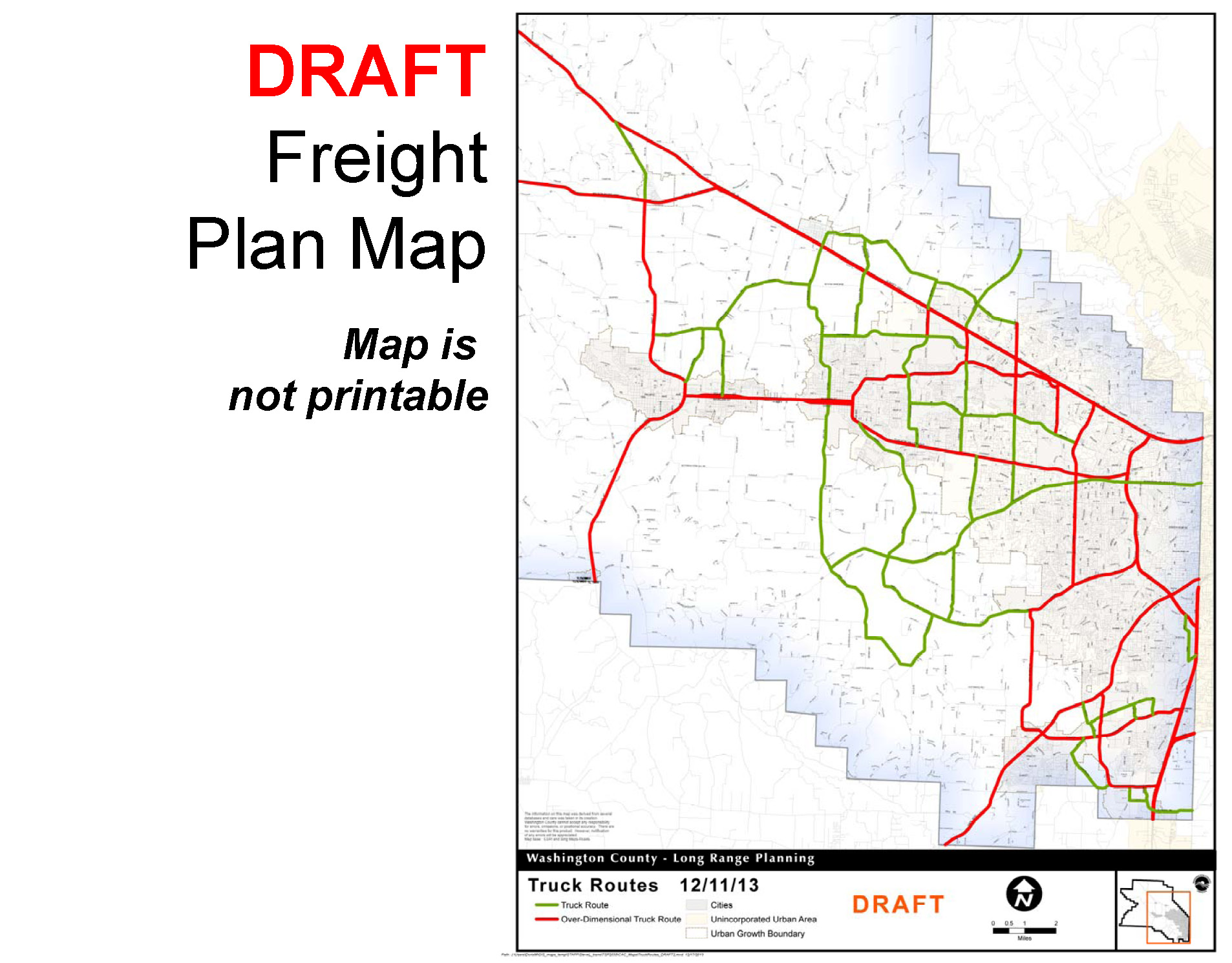 tsp draft map web page truck freight