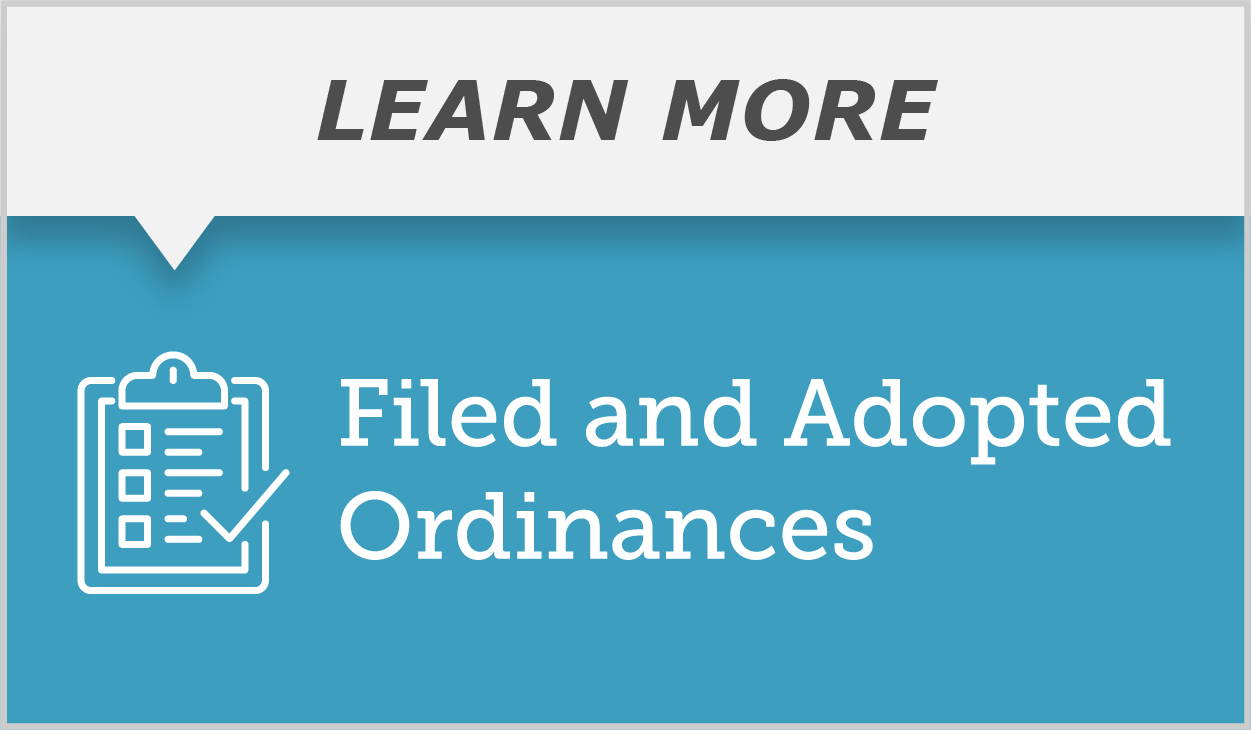 Filed and Adopted Ordinances call out