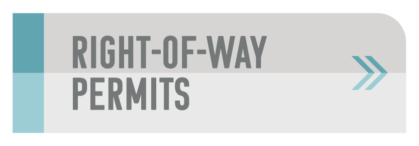 Right-of-Way permits