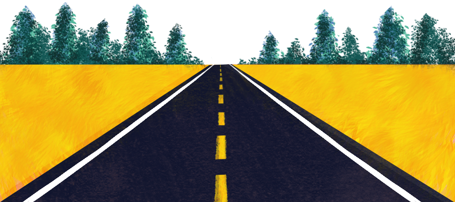 Paved roads banner