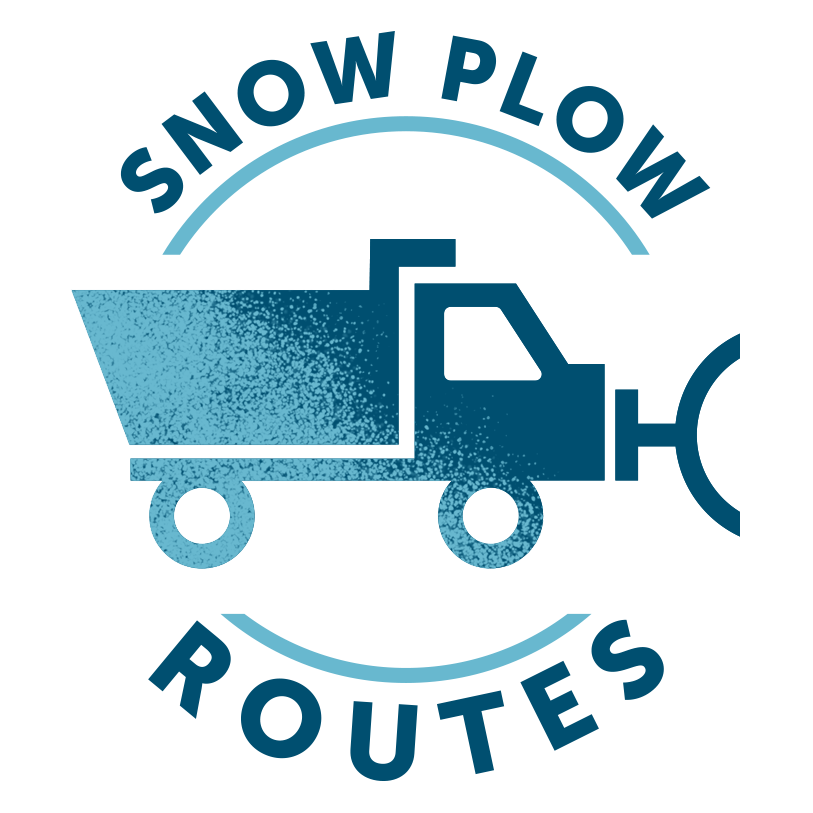 Snow plow routes