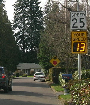 Speed Display Sign - Mill Creek