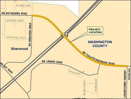 Tualatin Sherwood Road Vicinity Map