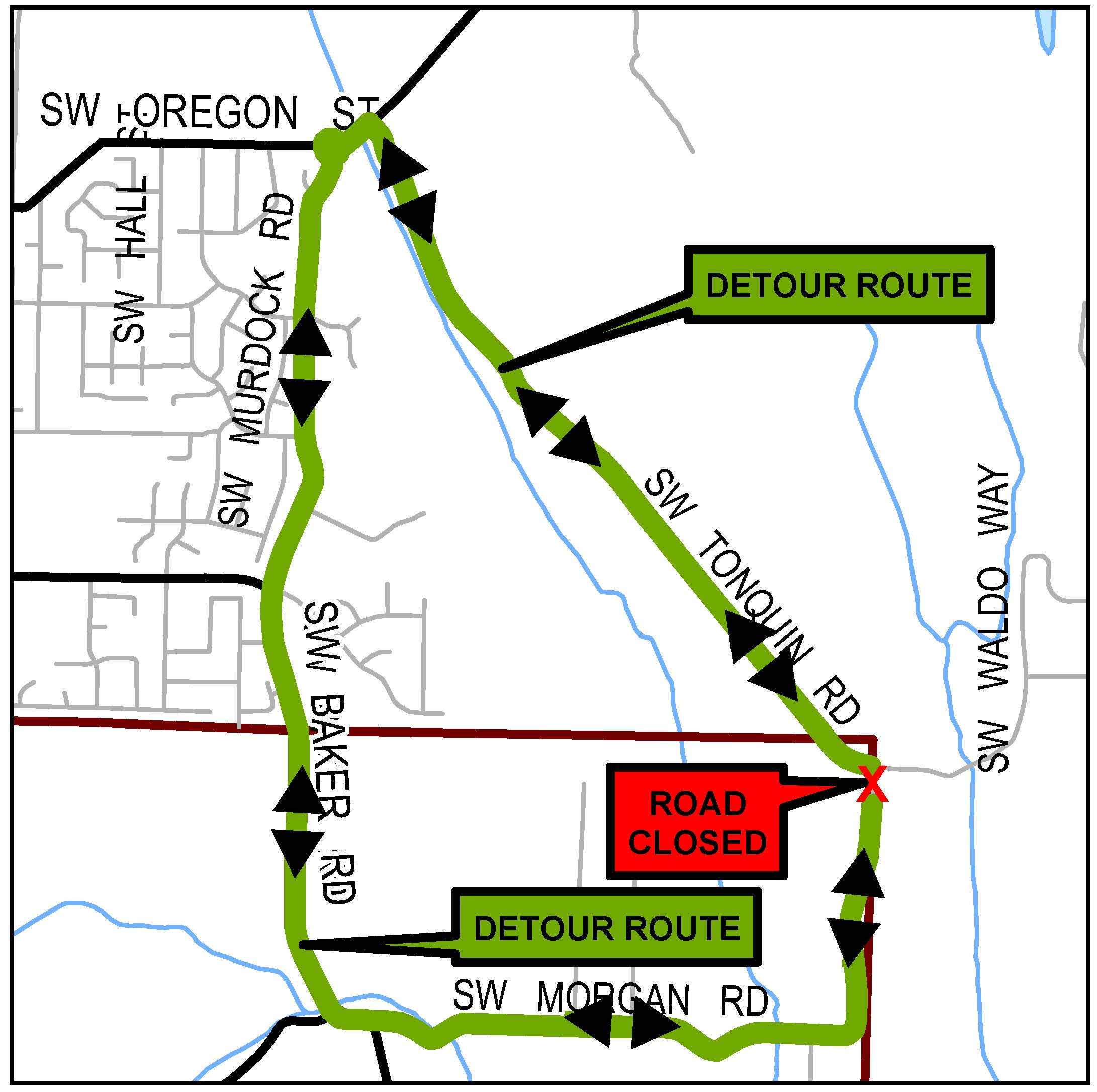 Morgan road closure detour map