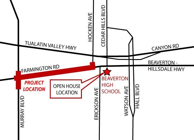 Farmington Rd Open House Map