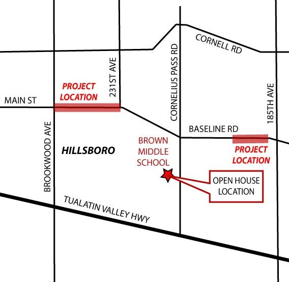 Baseline Open House Map