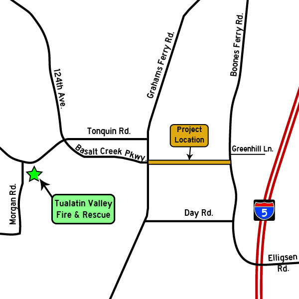 Basalt Creek Parkway Extension open house map