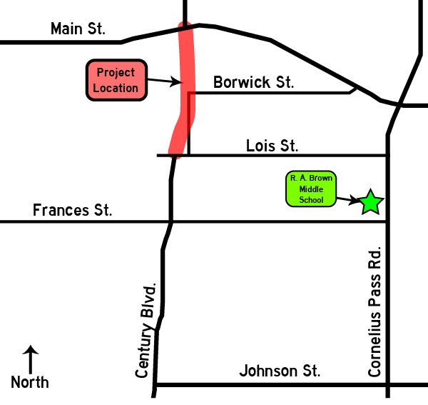 Century Boulevard Extension open house map