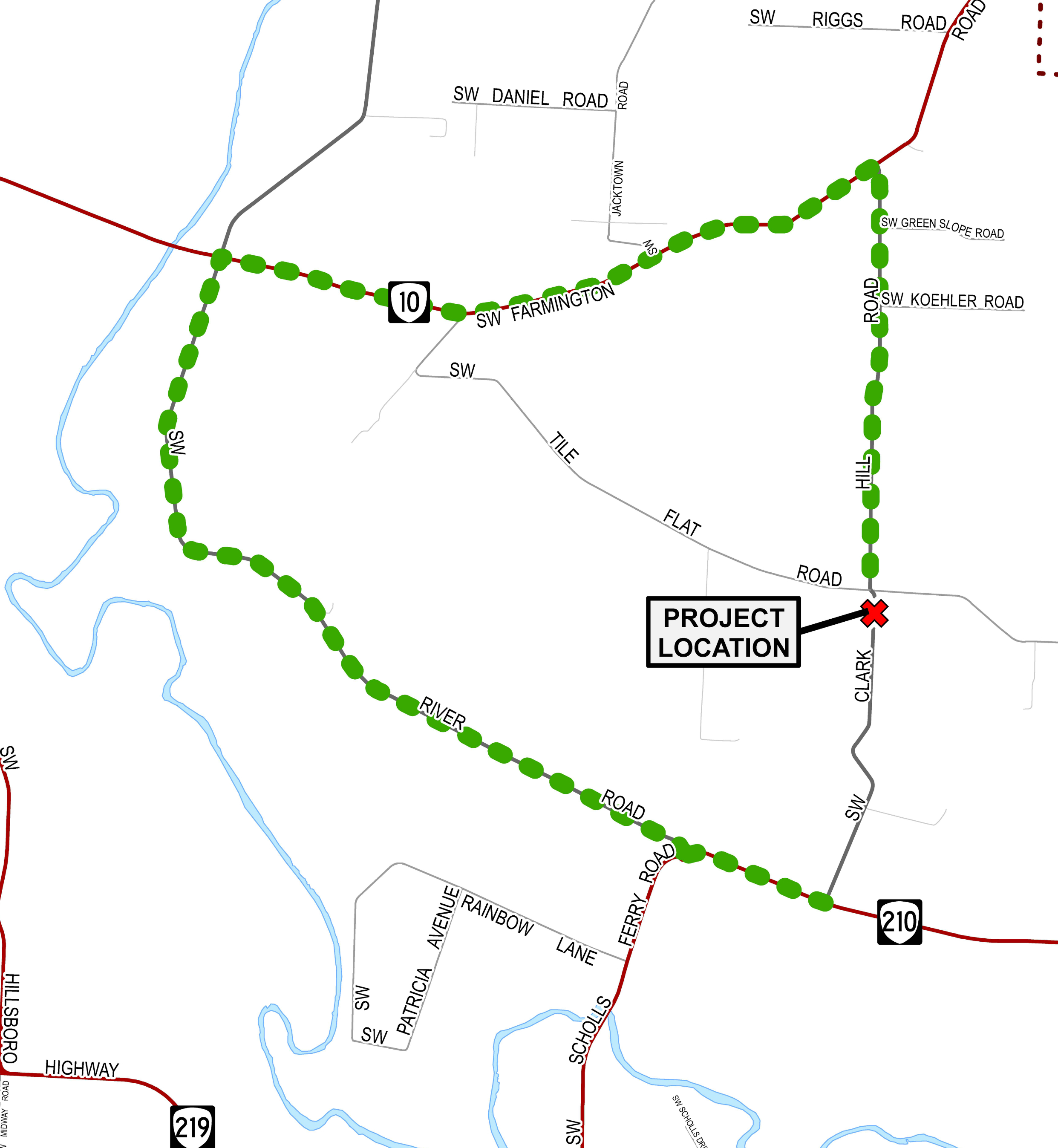 Clark Hill Road to close Sept. 7
