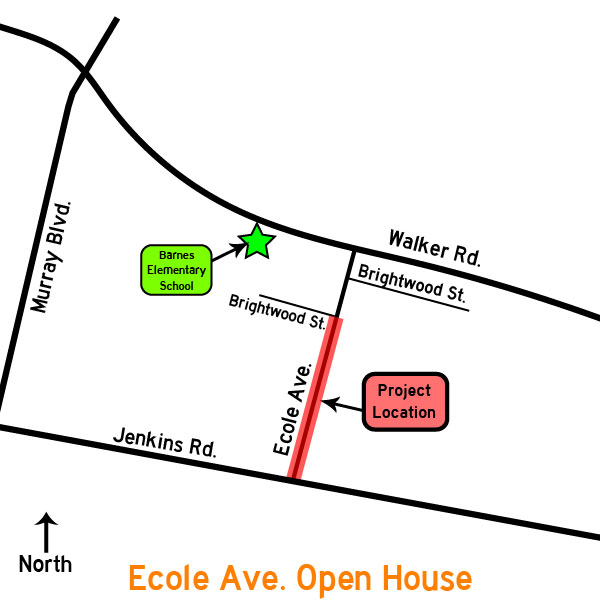 Ecole Ave Open House Map