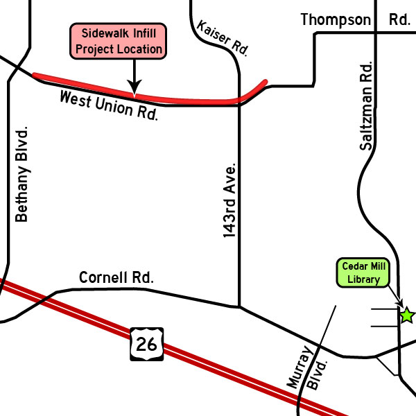 West Union/Thompson roads open house map