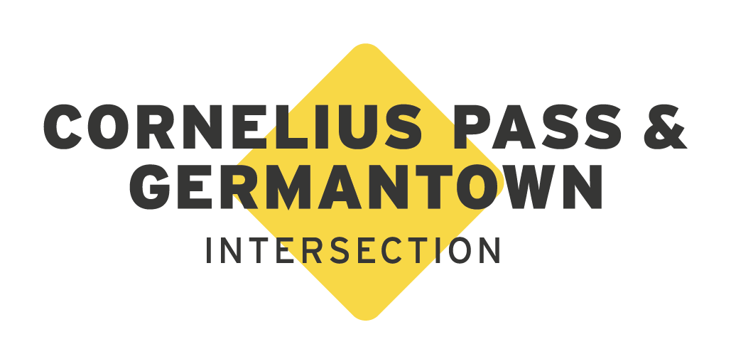 Cornelius Pass and Germantown roads intersection logo