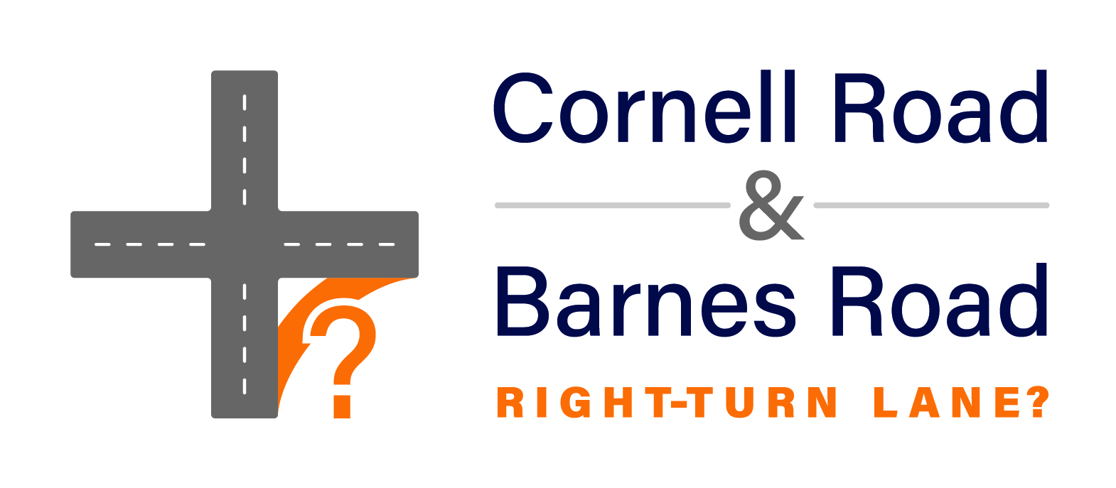 A possible eastbound right-turn lane from Cornell Road onto southbound Barnes Road is being evaluated by Washington County Department of Land Use & Transportation (LUT) to improve safety and reduce congestion.