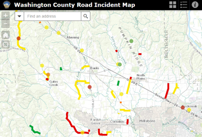 Road Incident Map Dec. 2015