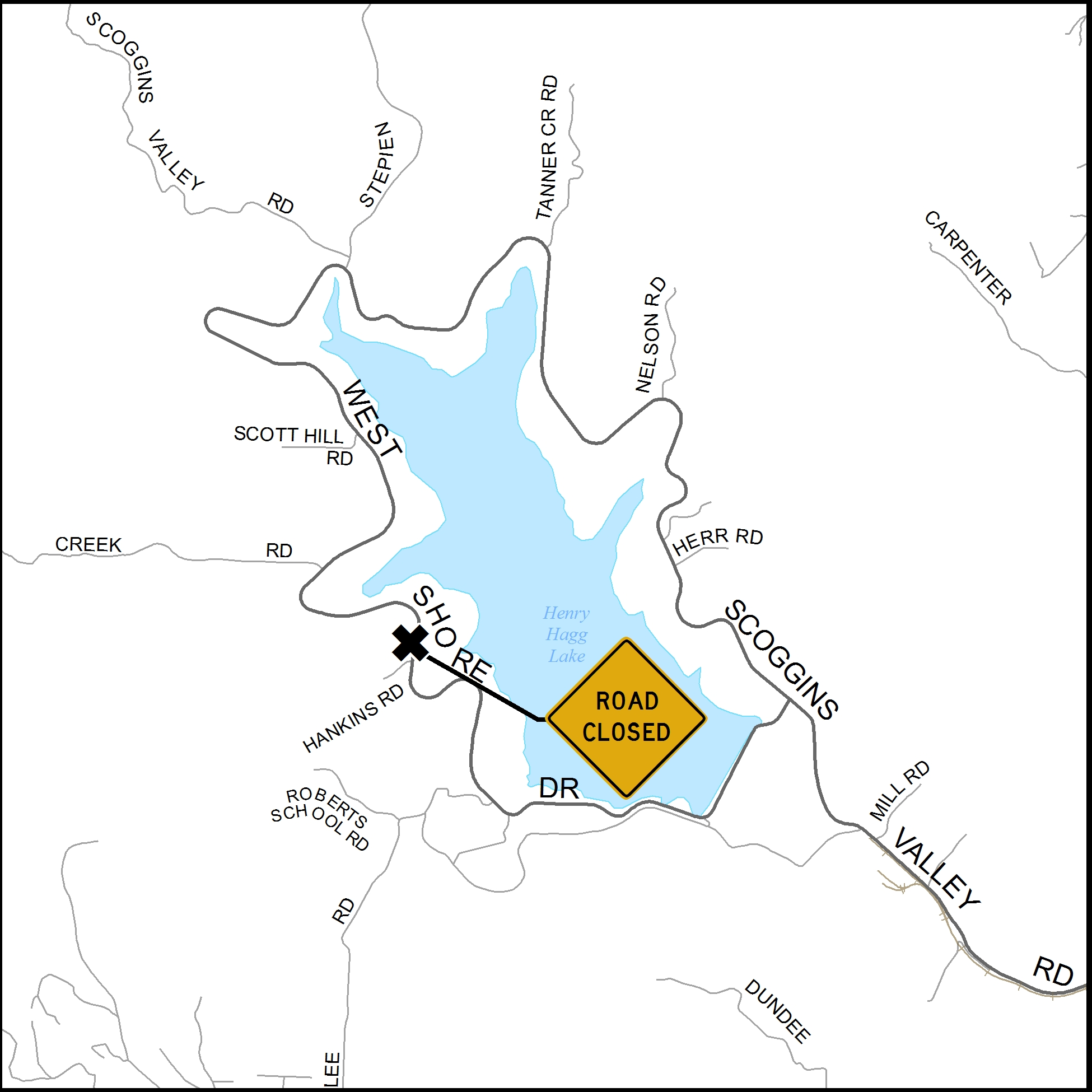 Hankins Slide closure map