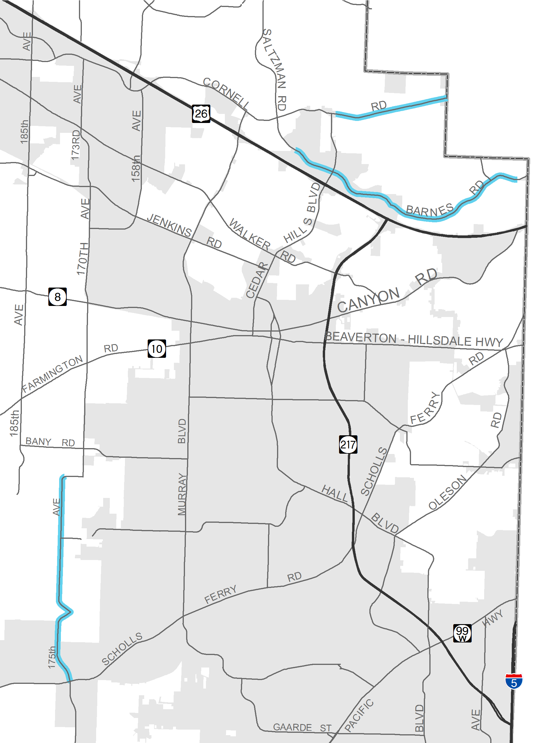 Snow Zones Implemented In Washington County - Washington county map
