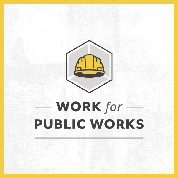 Work for Public Works logo