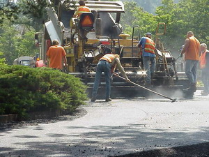 Paving in urban neighborhood