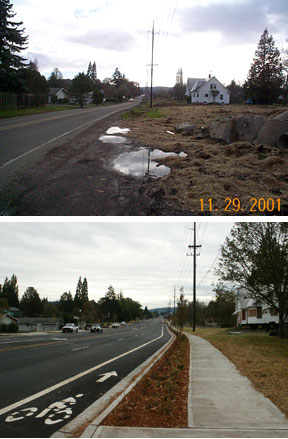 170th and Blanton Before and After