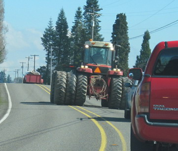 Sharing The Road With Farm Equipment