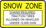 Snow Zone Chains Required