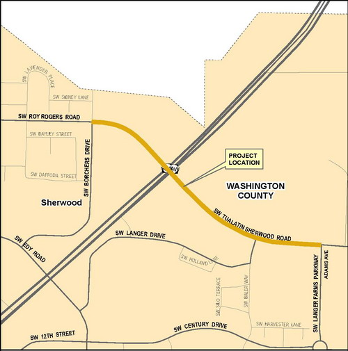 Tualatin-Sherwood(Adams to Borchers) Vicinity Map