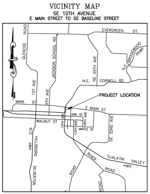 10th Ave (Main to Baseline) Project Vicinity Map