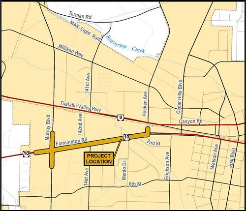 Farmington Road Project Vicinity Map
